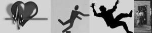 Heartbeat Stumbling Sign Man Falling Men Going in a Building