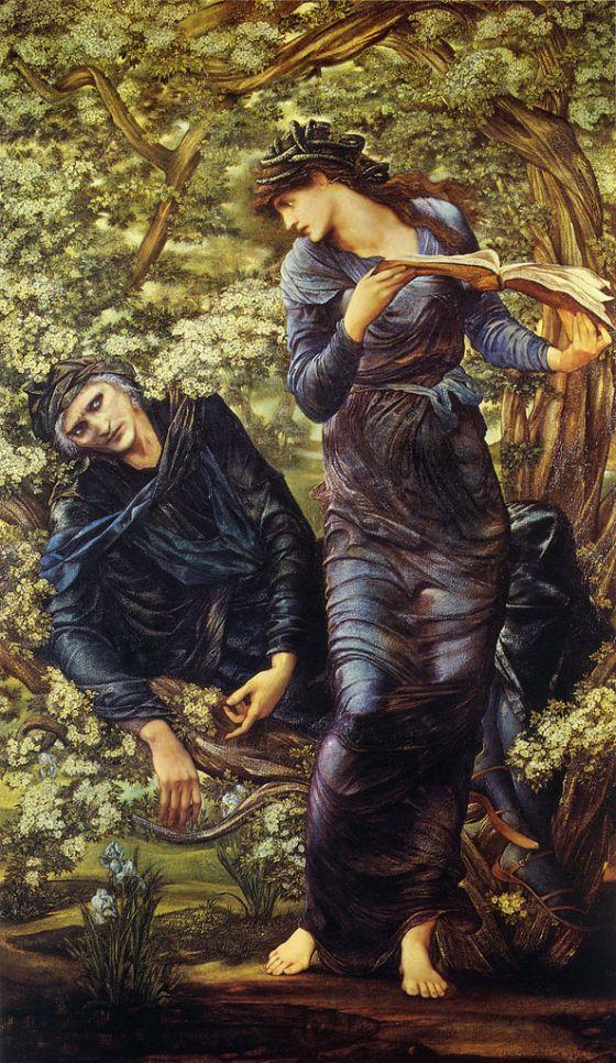 593px-Edward_Burne-Jones_-_The_Beguiling_of_Merlin,_1873-1874