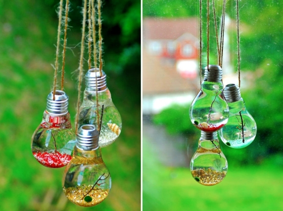 Ideas For Recycling Old Light Bulbs 20