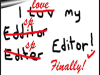 EDITING AND OBTAINING AN EDITOR…