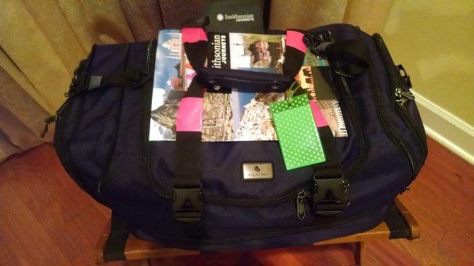 dora packed for africa