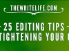 25 Editing Tips Checklist Form Infographic…