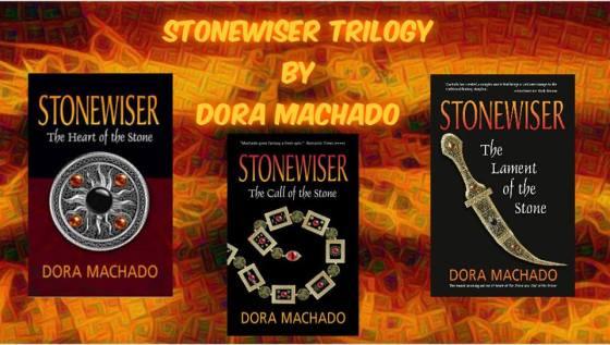 dora stonewiser gold background