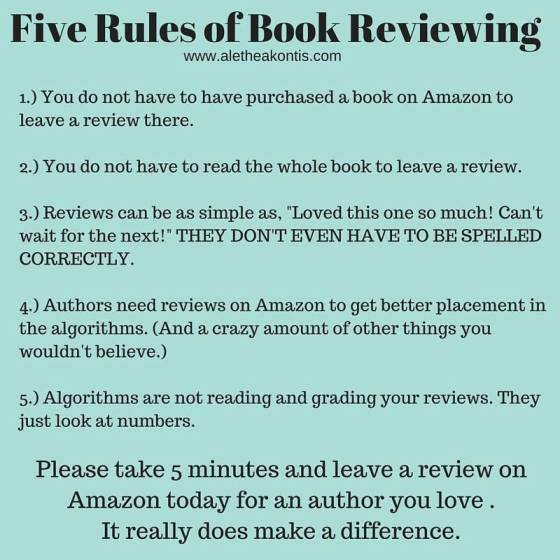 5 rules of Book Reviewing