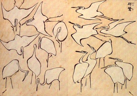 640px-Cranes_Hokusai.jpg
