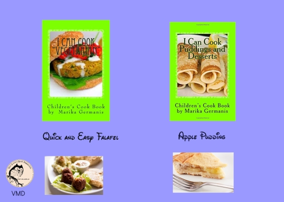 Marika falafel and apple pudding.jpg