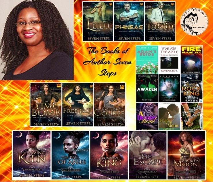 Seven books collage