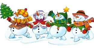 Line snowmen
