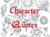 CHARACTER QUOTES FROM DEAD TO WRITES
