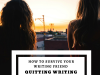 How To Survive Your Writing Friend Quitting Writing #SundayBlogShare #Writers