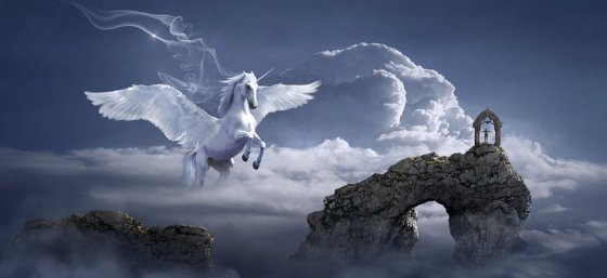 unicorn in fantasy world