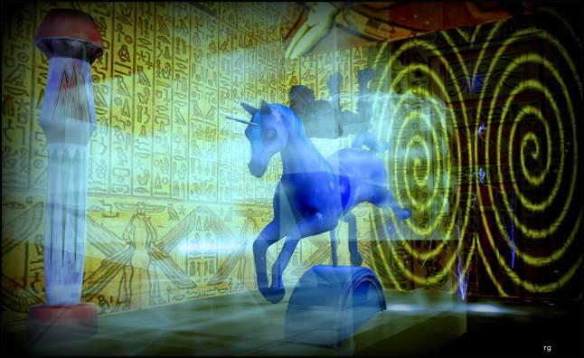 Bot on unicorn Rocking horse The Pyramid 4