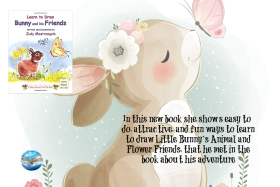 Judy learn how to draw bunny and his friends