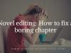 Novel editing: How to fix a boringchapter